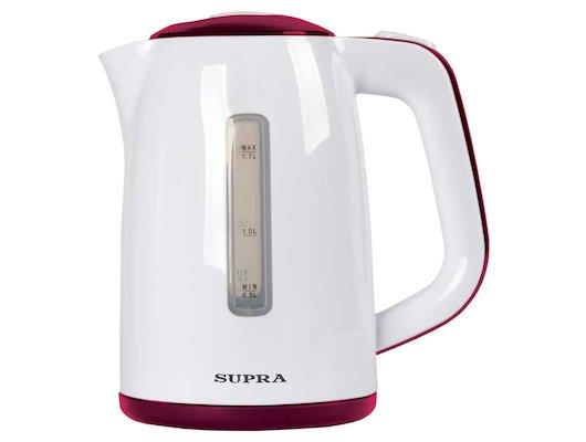 Чайник электрический  SUPRA KES-1728 white/burgundi