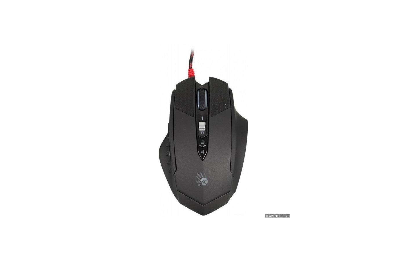 Мышь проводная A4Tech Bloody T70 Winner черный/серый оптическая (4000dpi) USB2.0 игровая (8but)