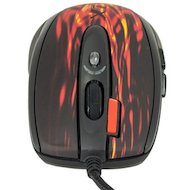 Фото Мышь проводная A4Tech XL-750BK USB (red fire) Laser