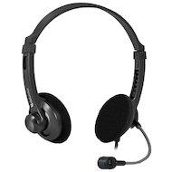 Наушники с микрофоном проводные Defender Aura 104 черный 1.8м