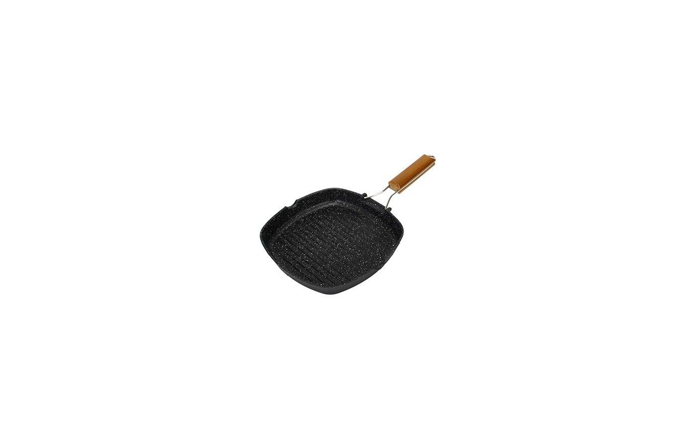Сковорода - гриль 846-315 Сковорода-гриль с а/п со складывающейся ручкой 24х4см