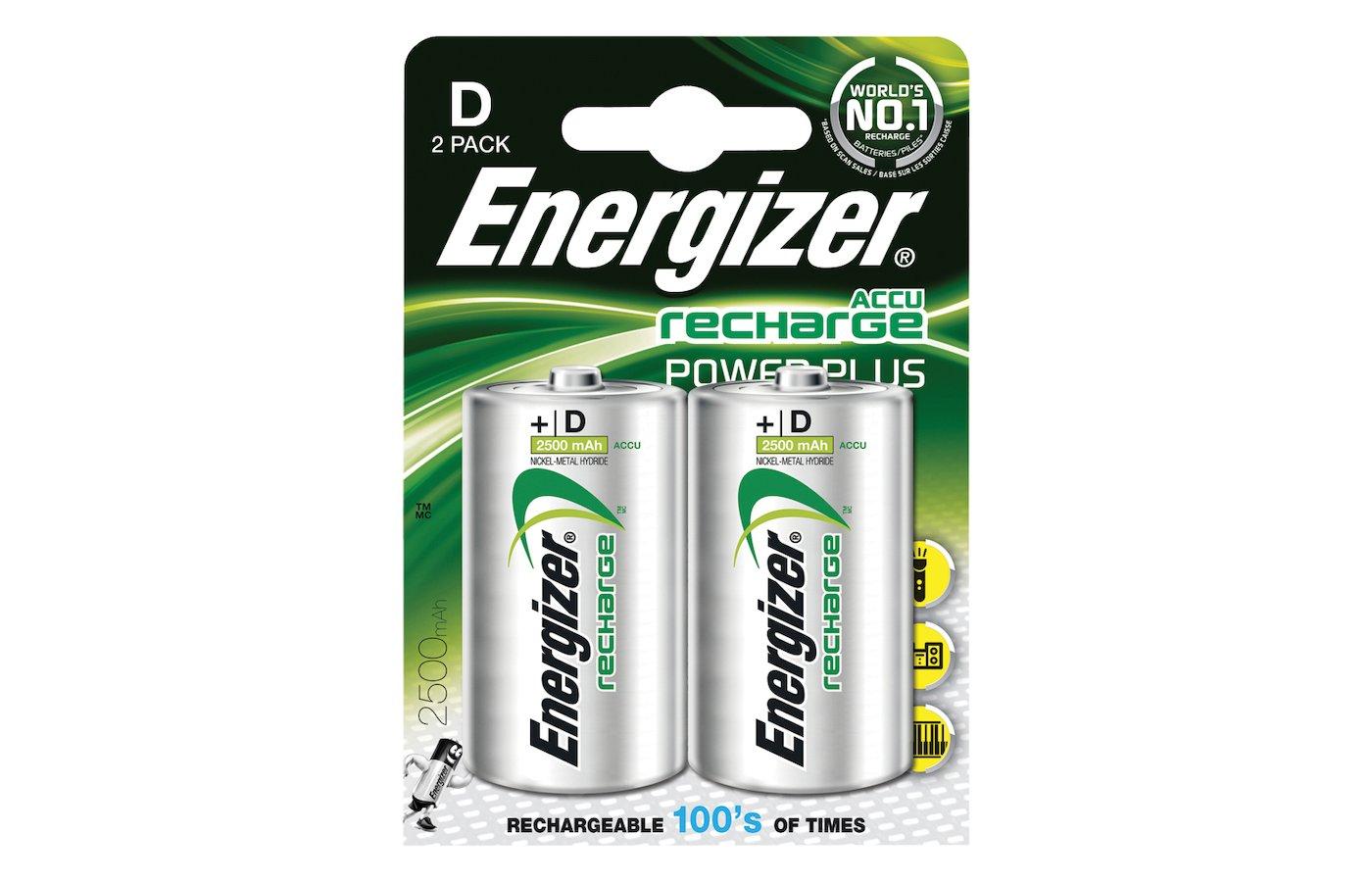 Аккумулятор Energizer D HR20 2500mAh 2шт. (HR20-2BL)