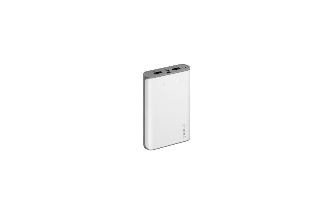 Портативный аккумулятор Prime Line 12000 mAh белый 2.5A