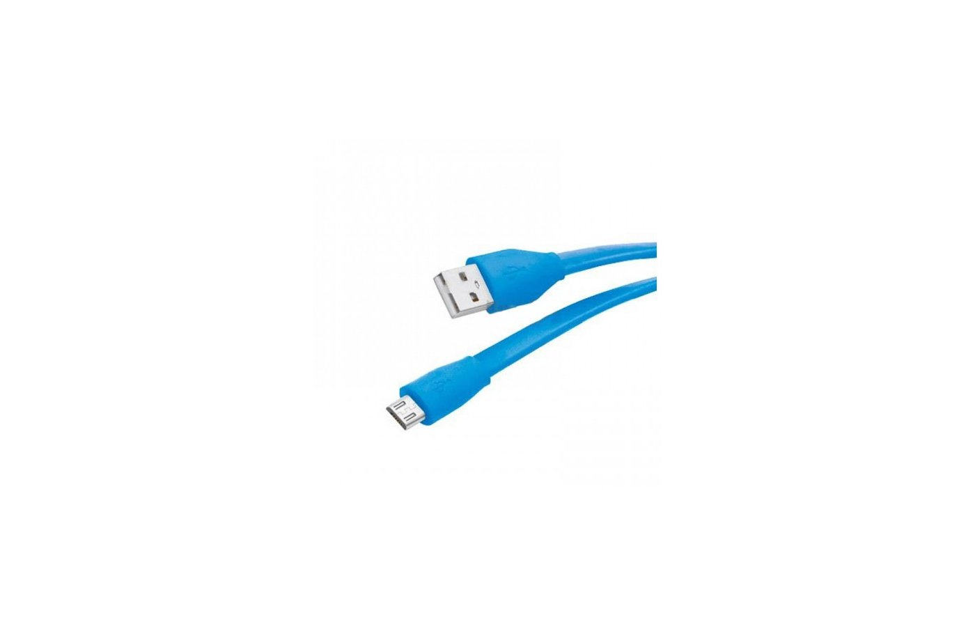 Кабель Partner microUSB 2.1А плоский синий (1м.)