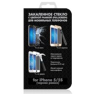 Стекло DF fullscreen для iPhone 5/5S/SE (iColor-02) black