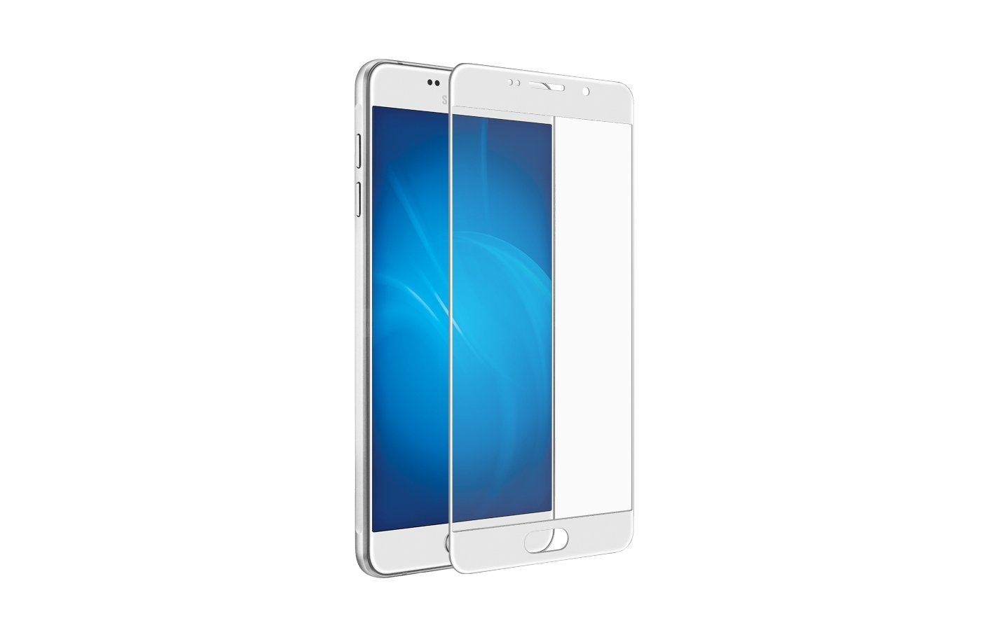 Стекло DF fullscreen для Samsung Galaxy A7 (2016) SM-A710 (sColor-04) white