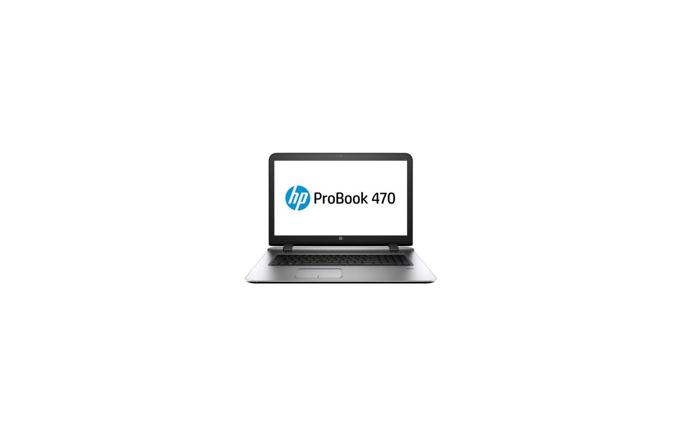 Ноутбук HP ProBook 470 G3 /W4P91EA/ intel i5 6200U/8Gb/1Tb/DVDRW/17.3HD+/WiFi/DOS