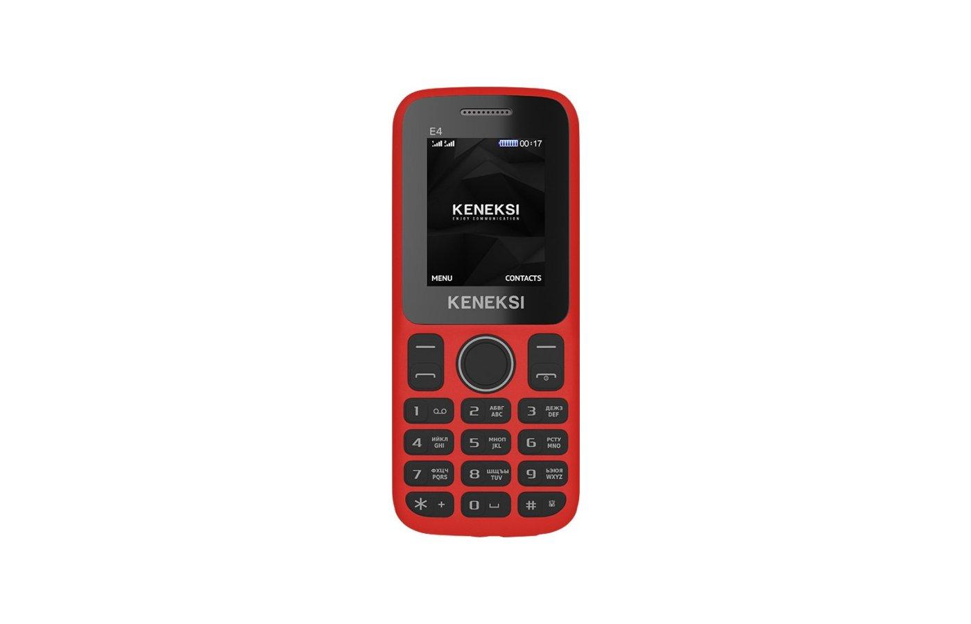 Мобильный телефон KENEKSI E4 Red