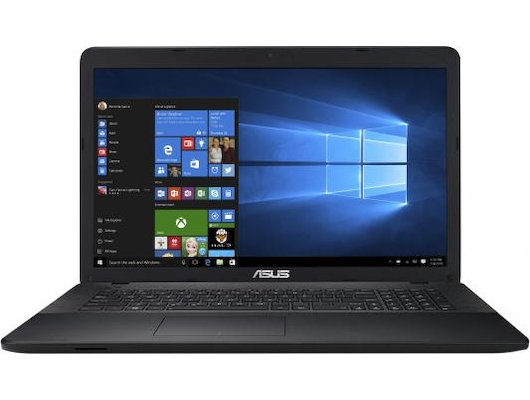 Ноутбук ASUS X751SA-TY006 /90NB07M1-M01110/ intel N3700/4Gb/500Gb/DVDRW/17.3HD+/WiFi/DOS