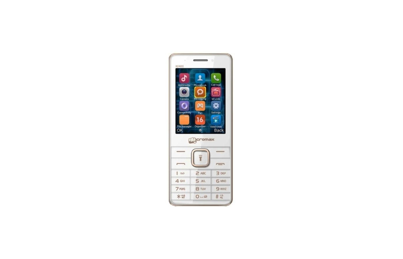 Мобильный телефон Micromax X2420 white champange