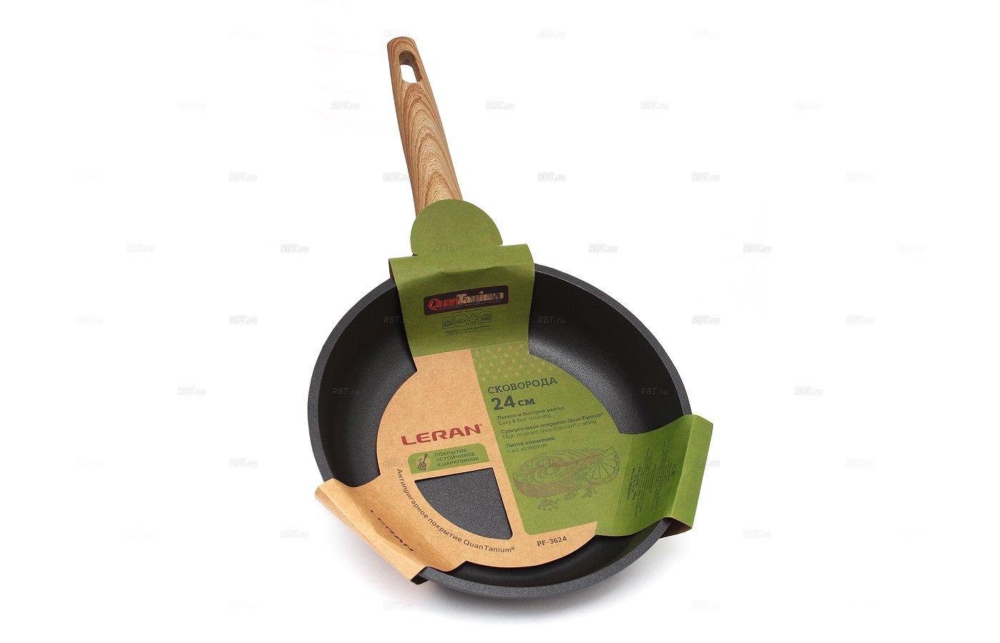 Сковорода LERAN PF-3624 литая индукционная