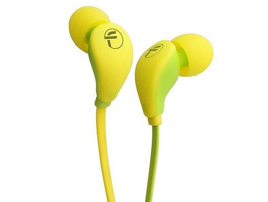 Наушники вкладыши Fischer Audio FA-547 желтый-зеленый