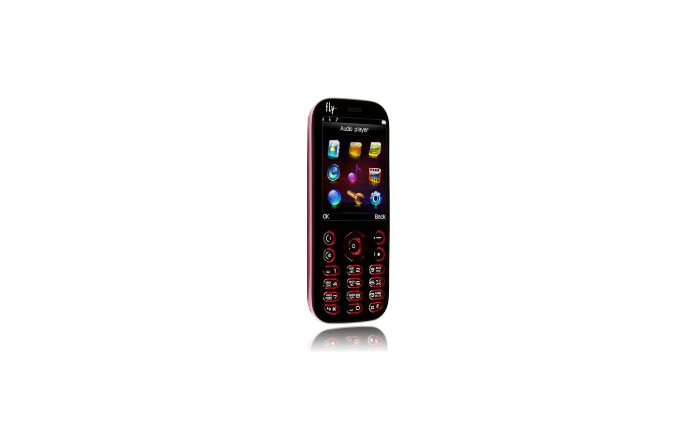 Мобильный телефон FLY MC135 black pink
