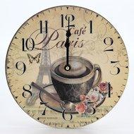 Фото Часы настенные 581-545 Часы Ретро стиль 23х23см МДФ пластик 1хАА арт.5
