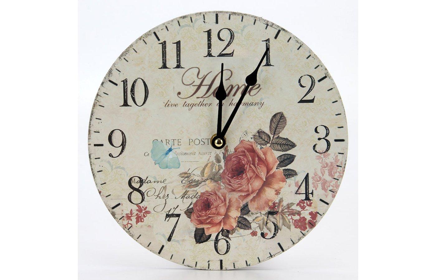 Часы настенные 581-541 Часы Ретро стиль 23х23см МДФ пластик 1хАА арт.1