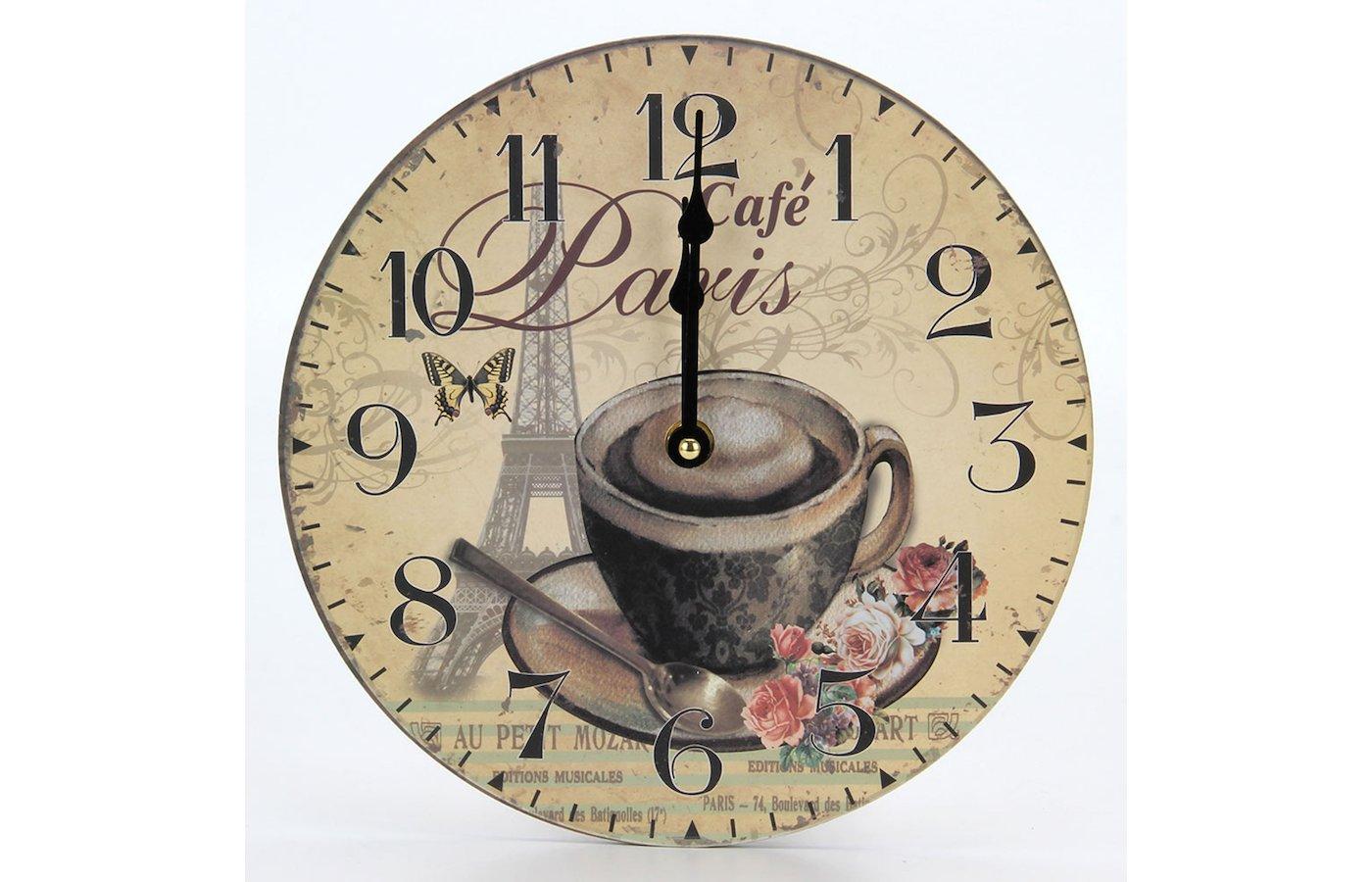 Часы настенные 581-545 Часы Ретро стиль 23х23см МДФ пластик 1хАА арт.5