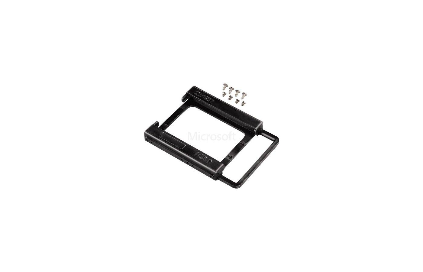 """SSD жесткий диск Крепление для SSD Hama H-39830 black 2.5 - 3.5"""" черный"""