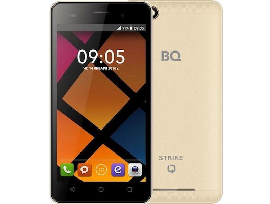 Смартфон BQ BQS-5020 Strike Gold