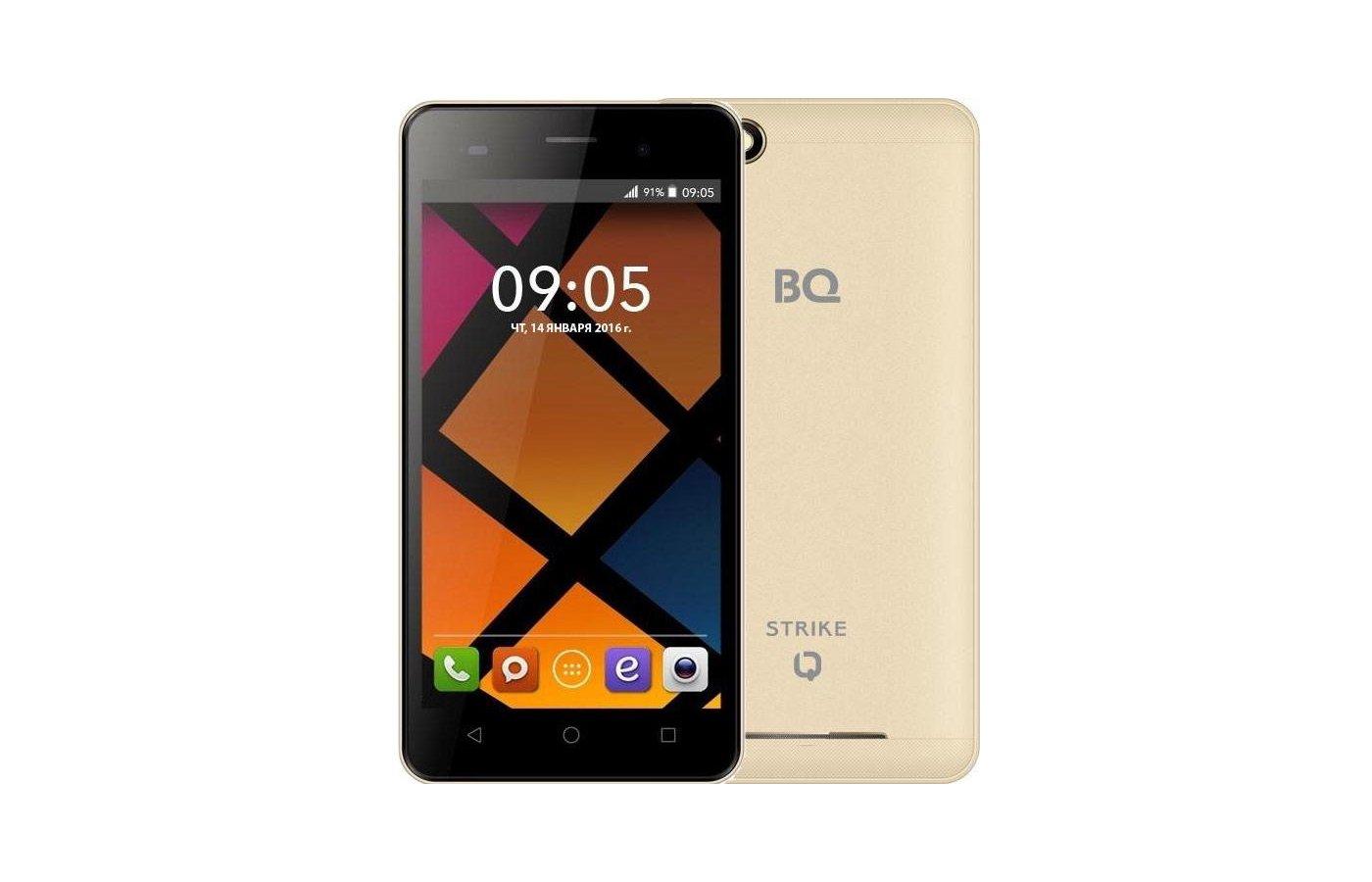Смартфон BQ BQS-5020 Strike Gold