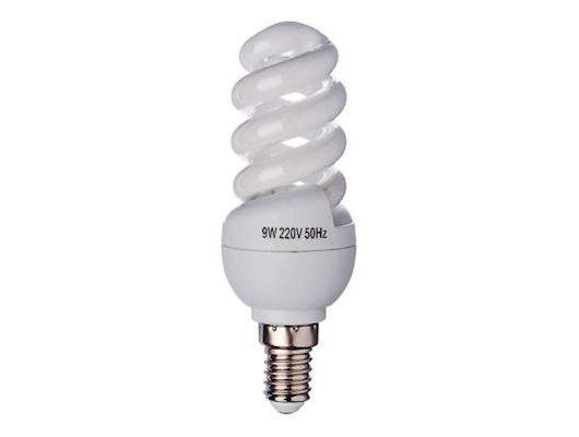 Лампочки энергосберегающие FORZA  E14 9W 2700K полн.спираль