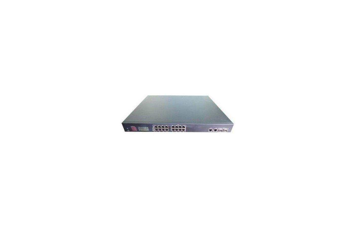 Аксессуары для видеосистем IVUE-PS20-2F16C16-ти портовый управляемый 1U коммутатор