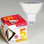 Фото Лампочки LED ОНЛАЙТ LED 637 OLL-MR16-5-230-3K-GU5.3