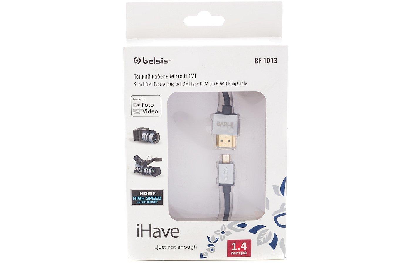 Кабель iHave BF 1013 HDMI(m) - micro HDMI(m) 1.4м.