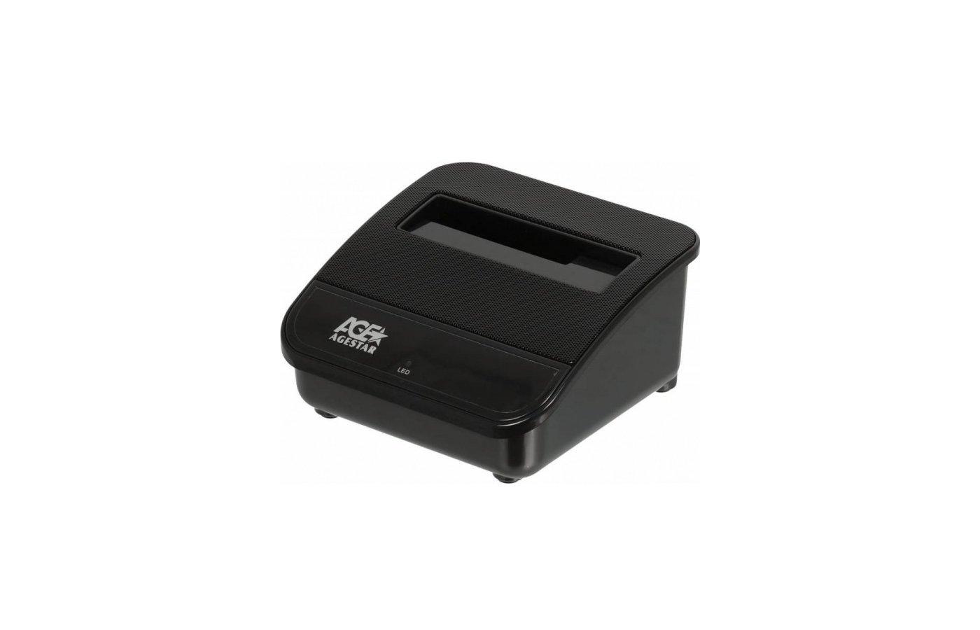 Корпус для жесткого диска AgeStar Док-станция для HDD 3CBTO1 SATA USB3.0/eSATA пластик черный