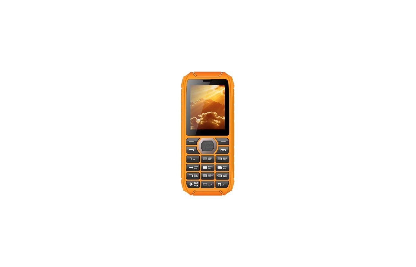 Мобильный телефон Vertex K201 черный/оранжевый