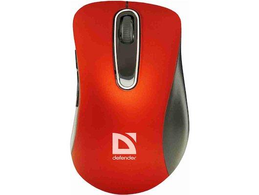 Мышь беспроводная Defender Datum MM-075 красный