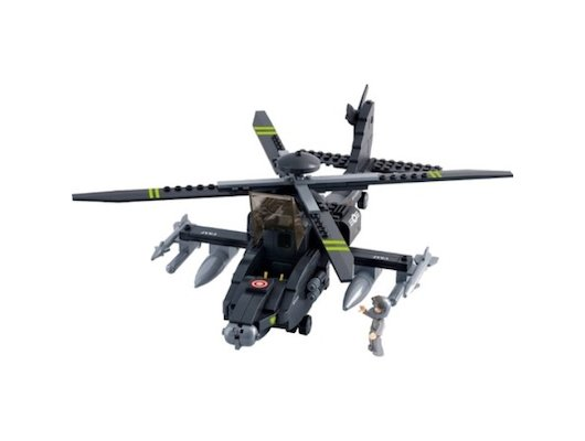 Конструктор SLUBAN M38-B0511 Военный вертолет Апачи