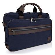 Фото Кейс для ноутбука Dell Topload темно-синий/коричневый парусина (460-BBHF)