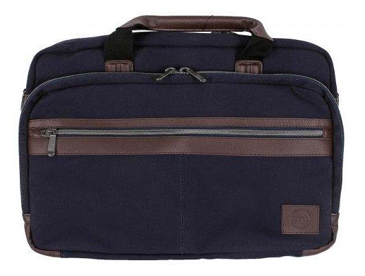 Кейс для ноутбука Dell Topload темно-синий/коричневый парусина (460-BBHF)
