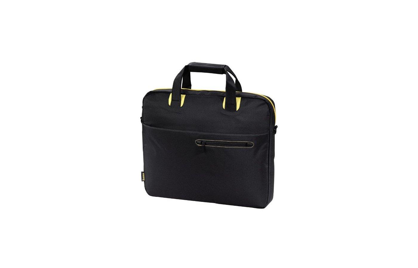 Кейс для ноутбука Hama San Francisco черный/желтый нейлон (00101170)