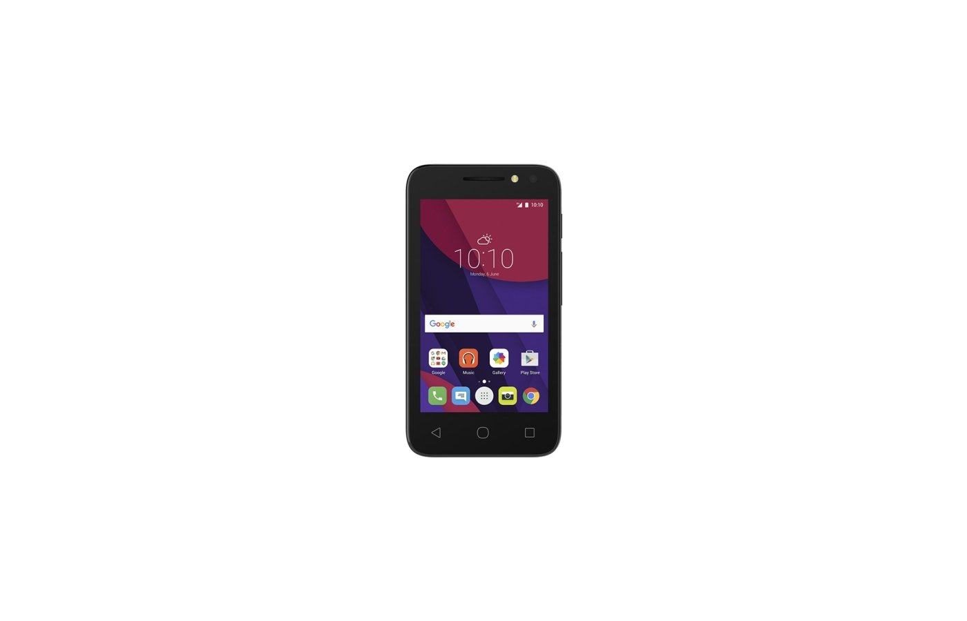 Смартфон Alcatel 4034D PIXI 4 (4) black/pink