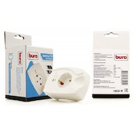 Сетевой фильтр BURO 100SH-W 1роз. белый