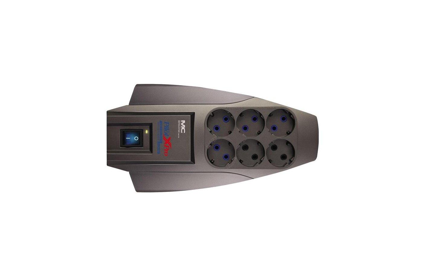 Сетевой фильтр Pilot X-Pro 6роз./7м. серый