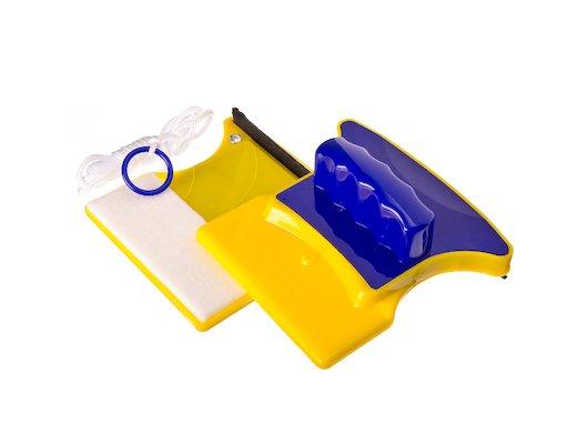 Инвентарь для уборки VETTA 444-292 Окномойка магнитная для стекла 3-7мм. пластик 11х11см