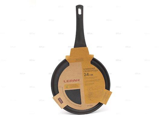 Сковорода для блинов LERAN CP-2514 а/п Xylan Plus 24 см. литой аллюм.