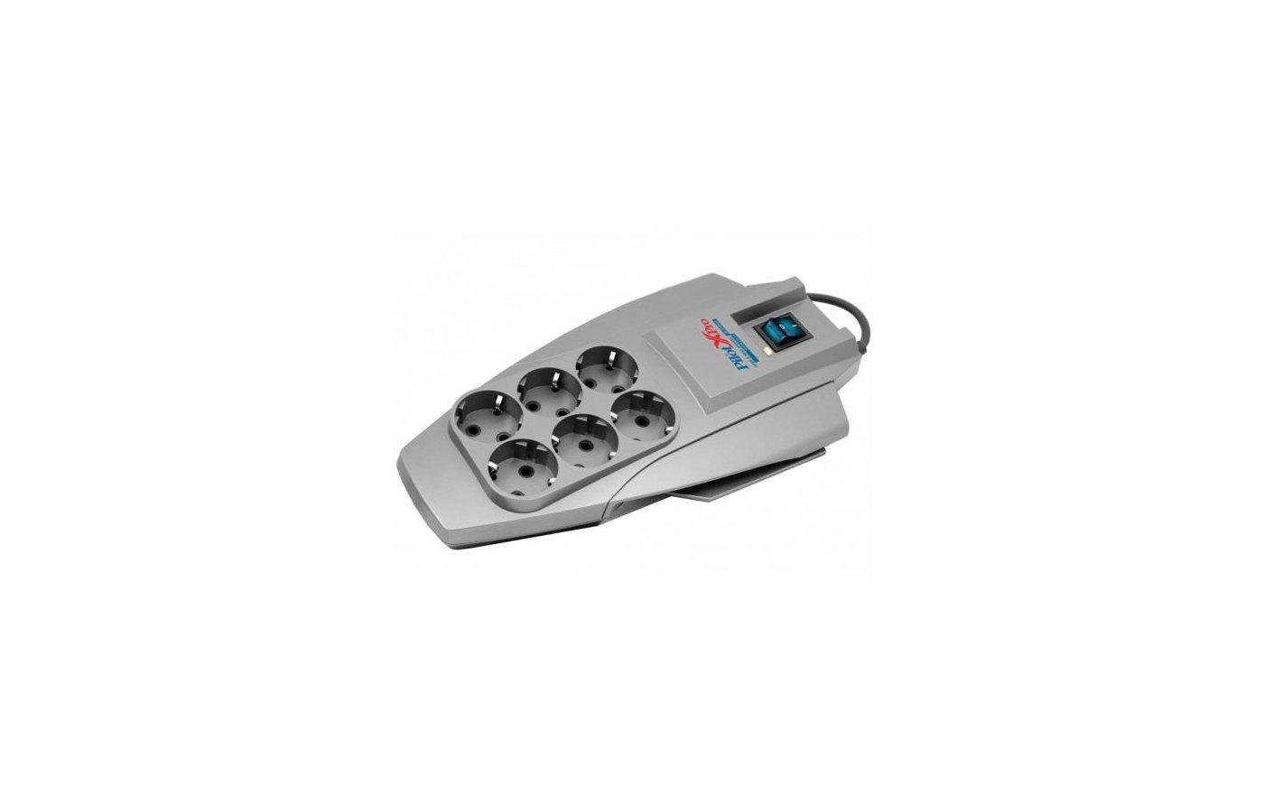 Сетевой фильтр Pilot X-Pro 6роз./5м. серый