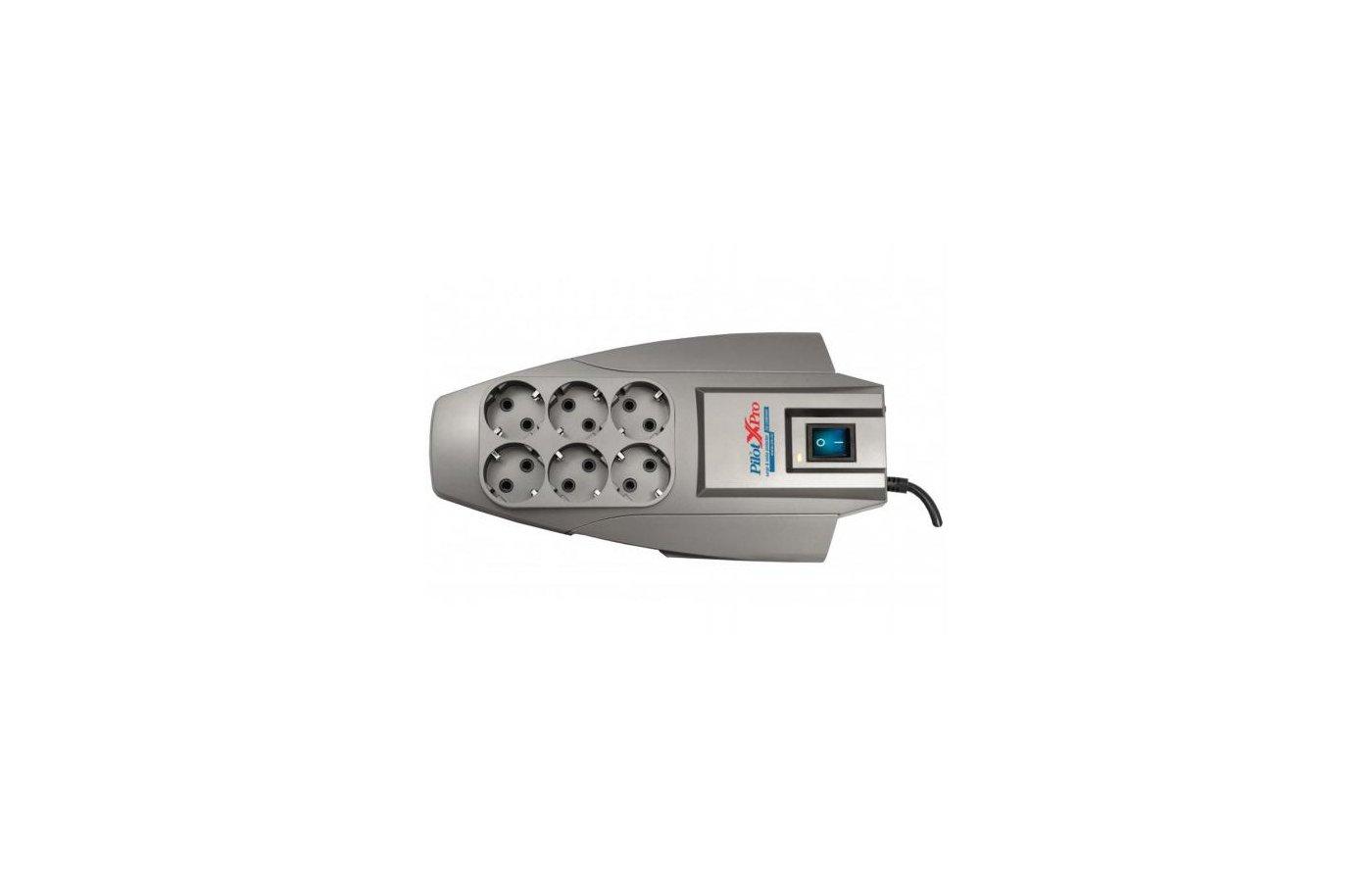 Сетевой фильтр Pilot X-Pro 6роз./3м. серый