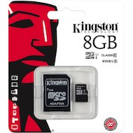 Фото Карта памяти Kingston microSDHC 8Gb Class 10 + адаптер (SDC10G2/8GB)