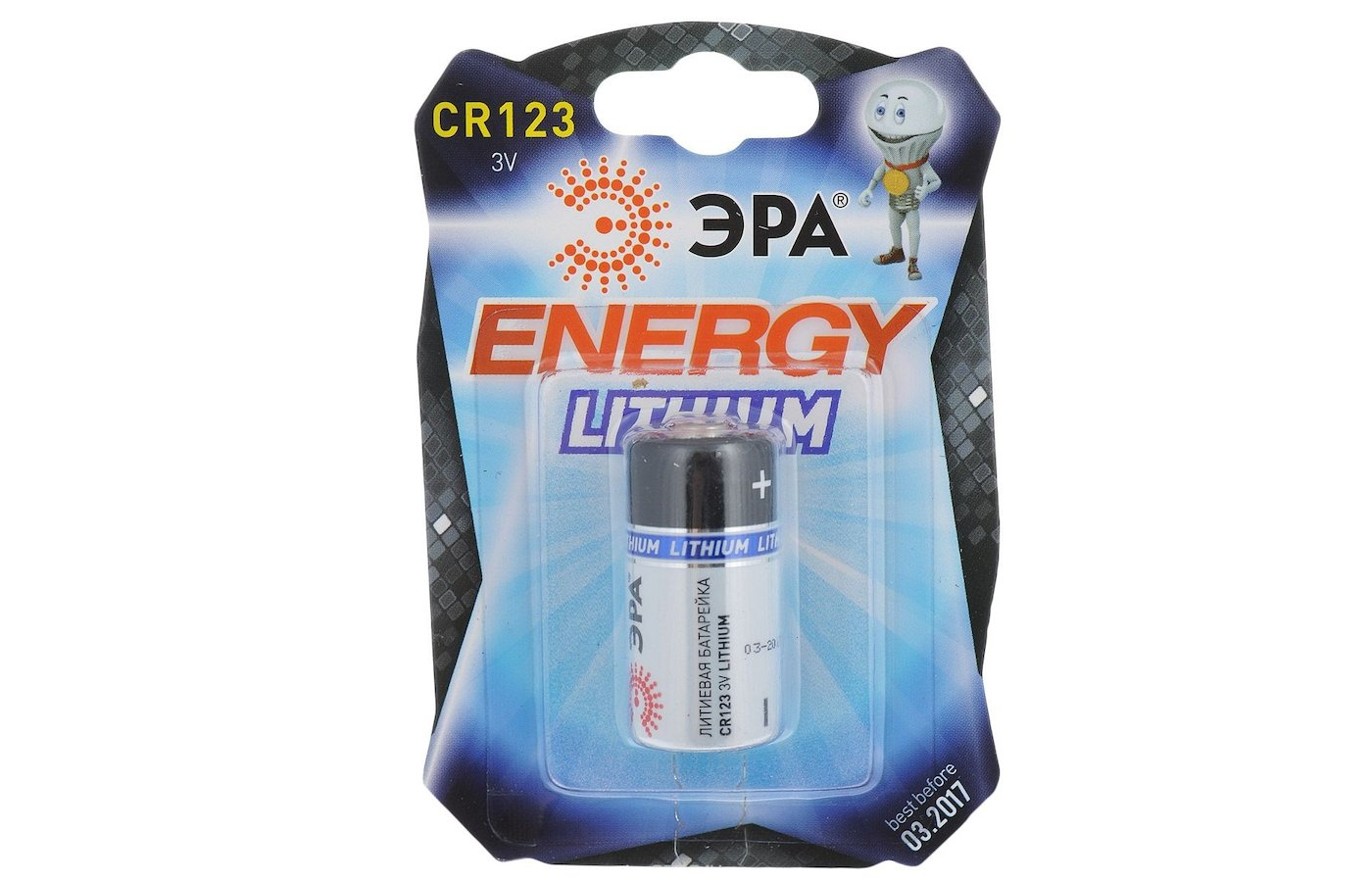 Батарейка ЭРА CR123 1шт. (CR123-1BL)