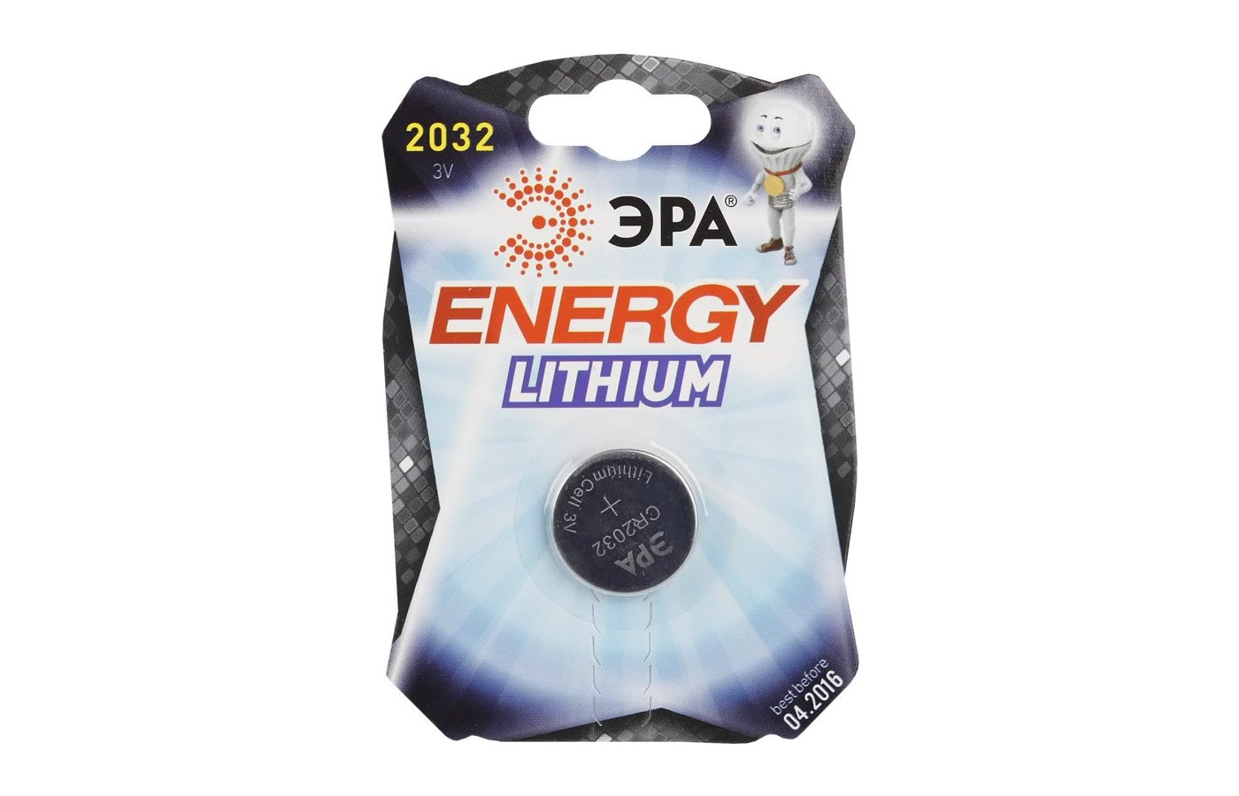 Батарейка ЭРА CR2032 1шт. (CR2032-1BL)