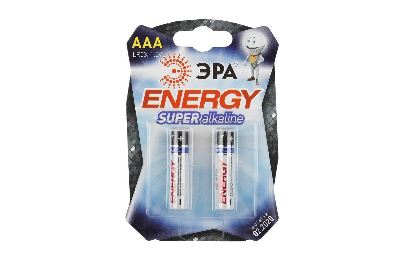 Батарейка ЭРА AAA 2шт. (LR03-2BL)