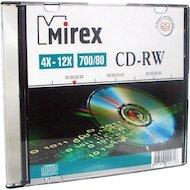 CD-диск CD-RW Mirex 700Мб 4X-12x Slim case (UL121002A8S)