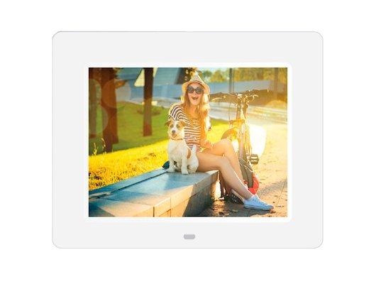 Цифровая фоторамка Digma 8 PF-833 1024x768 белый пластик ПДУ Видео