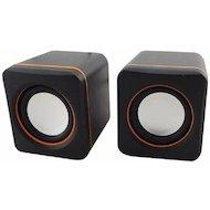 Фото Компьютерные колонки Oklick OK-301 черный/оранжевый 2.5Вт портативные
