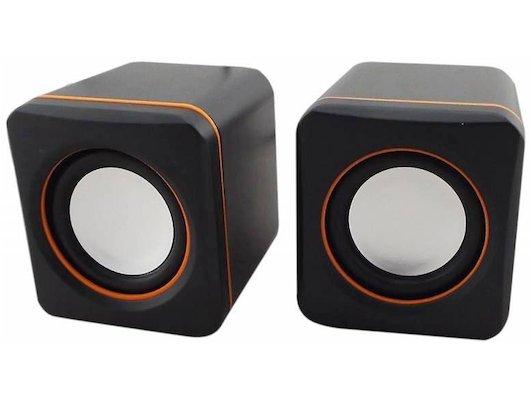 Компьютерные колонки Oklick OK-301 черный/оранжевый 2.5Вт портативные