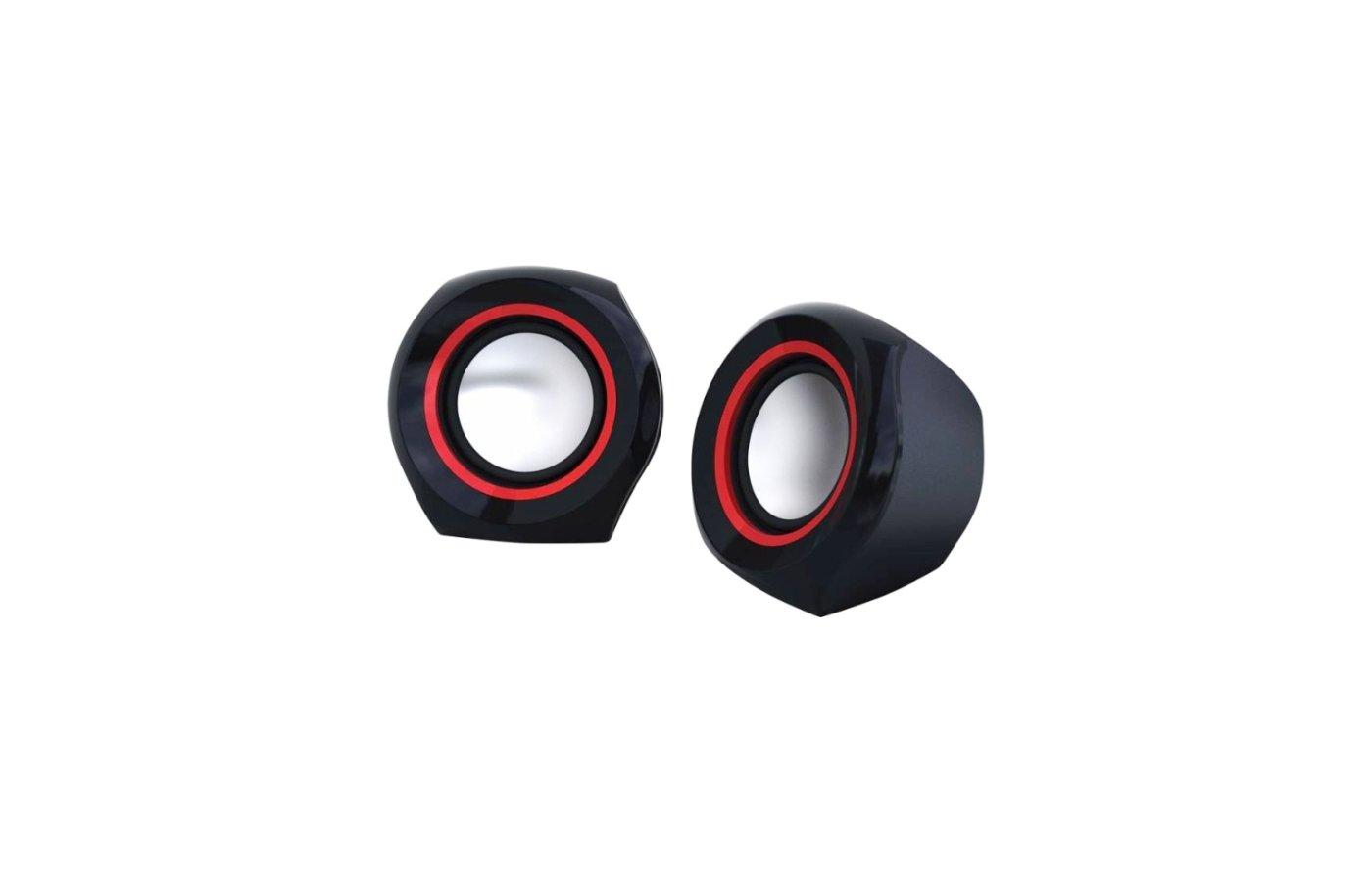 Компьютерные колонки Oklick OK-206 черный/красный 4Вт портативные